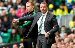 30/09/17 LADBROKES PREMIERSHIP CELTIC v HIBERNIAN CELTIC PARK - GLASGOW Celtic manager Brendan Rodgers