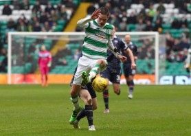 13 Feb 2016, Glasgow, Scotland, UK --- Mikael Lustig of Celtic during the Celtic v Ross County Ladbrokes Scottish Premiership match at Celtic Park, Glasgow on 13 February 2016 --- Image by © Ian Buchan/Corbis