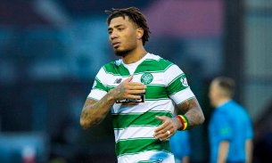 07/02/16 WILLIAM HILL SCOTTISH CUP 5TH RND EAST KILBRIDE v CELTIC EXCELSIOR STADIUM - AIRDRIE Celtic's Colin Kazim-Richards at full-time