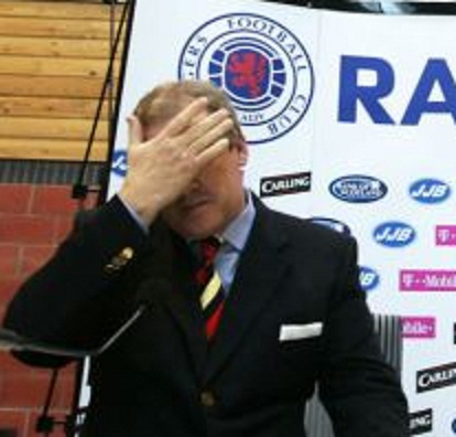 Rangers chairman Murray sits alongside newly appointed team manager Smith during a news conference near Glasgow Scotland