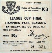 Scottish League Cup Final 1971