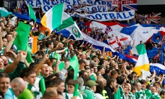 Rangers and Celtic fans on match day