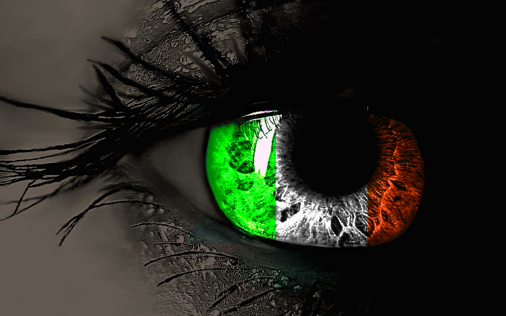 Irish Flag In Eyes Hd Wallpaper For Desktop Background Download