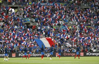 Football Soccer - France v Albania - EURO 2016 - Group A - Stade Vélodrome, Marseille, France - 15/6/16 France fans before the match REUTERS/Yves Herman Livepic