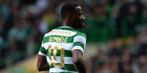 GLASGOW, SCOTLAND - JULY 19: Moussa Dembele of Celtic in action during the UEFA Champions League Qualifying Second Round, Second Leg match between Celtic and Linfield at Celtic Park Stadium on July 19, 2017 in Glasgow, Scotland. (Photo by Mark Runnacles/Getty Images) *** Local caption *** Moussa Dembele